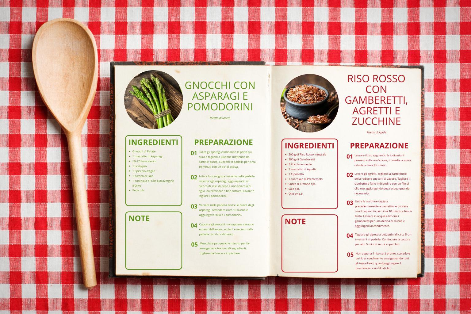 Il ricettario per le tue feste Scegli la versione del ricettario che preferisci